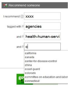 Auto-complete for tagging